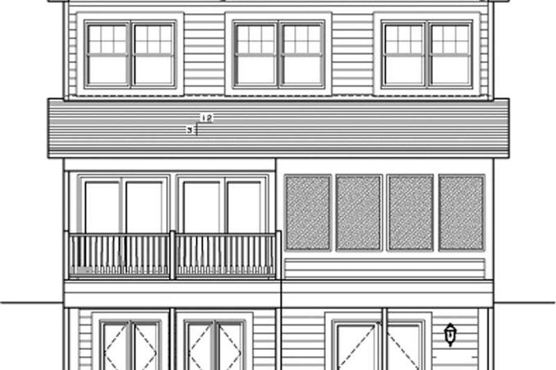 Traditional Exterior - Rear Elevation Plan #1010-77 - Houseplans.com