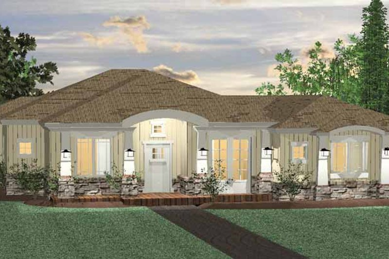 Prairie Exterior - Front Elevation Plan #937-28
