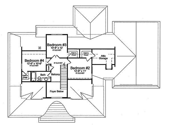 Country Floor Plan - Upper Floor Plan Plan #46-510