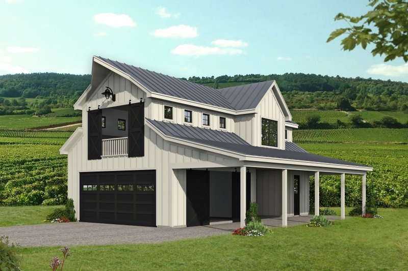 Home Plan - Country Exterior - Front Elevation Plan #932-355