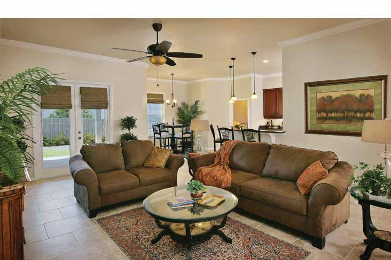 Country Interior - Family Room Plan #938-1 - Houseplans.com