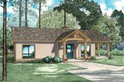 Traditional Style House Plan - 2 Beds 1 Baths 1128 Sq/Ft Plan #17-2615 Exterior - Front Elevation