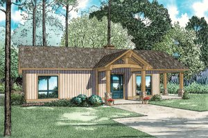 Traditional Exterior - Front Elevation Plan #17-2615