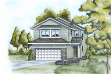 Dream House Plan - Traditional Exterior - Front Elevation Plan #20-2102