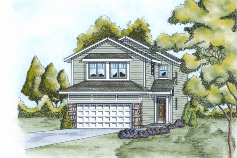 Traditional Style House Plan - 3 Beds 2.5 Baths 1562 Sq/Ft Plan #20-2102