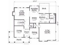 Traditional Floor Plan - Main Floor Plan Plan #419-159