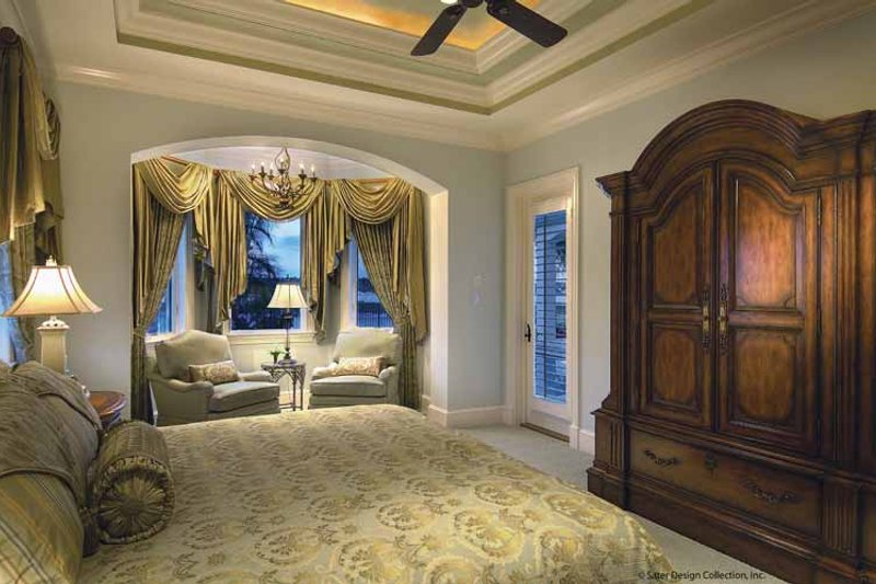 Mediterranean Interior - Master Bedroom Plan #930-421 - Houseplans.com