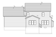 Colonial Exterior - Rear Elevation Plan #1010-33