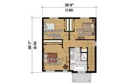 Contemporary Style House Plan - 3 Beds 1 Baths 1366 Sq/Ft Plan #25-4328 Floor Plan - Upper Floor Plan