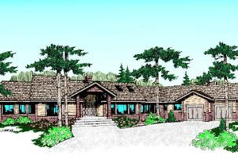 Traditional Style House Plan - 5 Beds 3 Baths 2987 Sq/Ft Plan #60-210 Exterior - Front Elevation