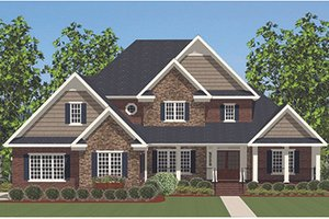 Traditional Exterior - Front Elevation Plan #898-37