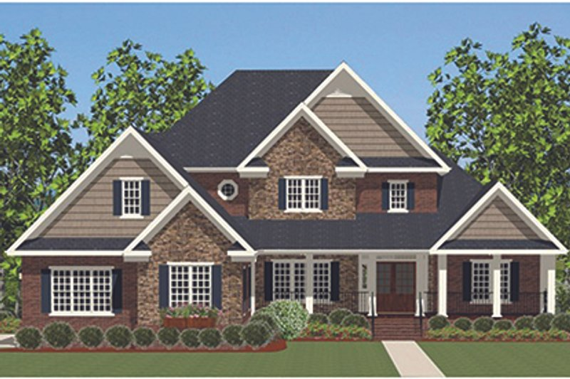 Traditional Exterior - Front Elevation Plan #898-37 - Houseplans.com