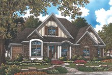 European Exterior - Front Elevation Plan #929-1010