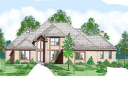 Modern Style House Plan - 4 Beds 4.5 Baths 3646 Sq/Ft Plan #52-231 Exterior - Front Elevation