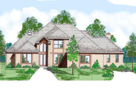 Modern Exterior - Front Elevation Plan #52-231