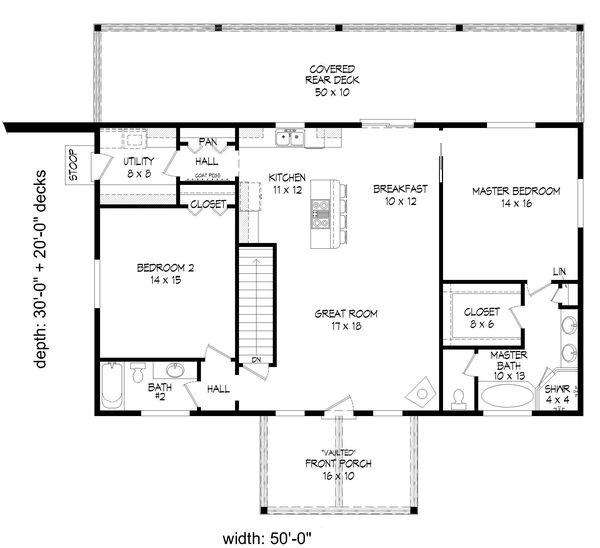 Dream House Plan - Country Floor Plan - Main Floor Plan #932-347
