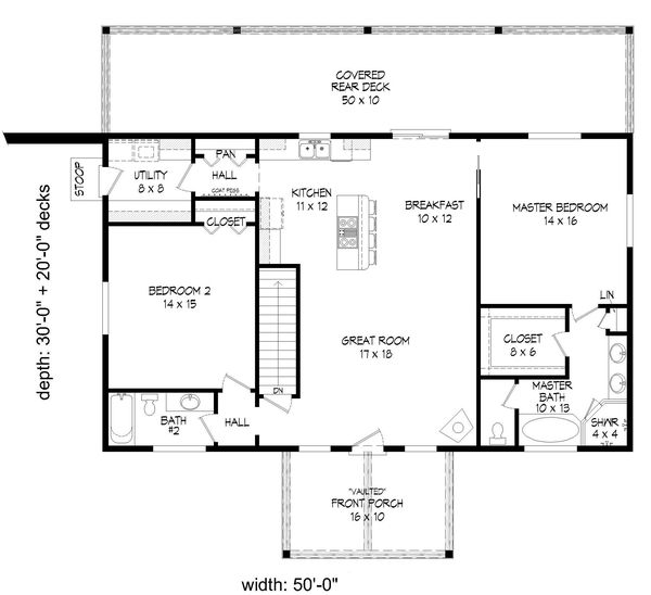 Country Floor Plan - Main Floor Plan #932-347