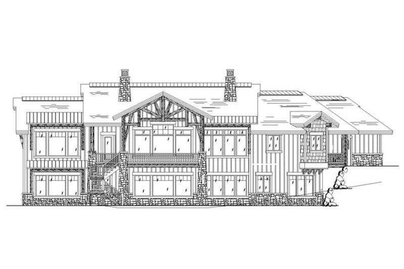 Craftsman Exterior - Rear Elevation Plan #945-139 - Houseplans.com