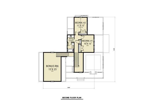 Farmhouse Floor Plan - Upper Floor Plan Plan #1070-87