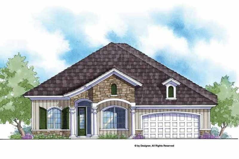 Country Exterior - Front Elevation Plan #938-57
