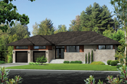 Contemporary Style House Plan - 2 Beds 2 Baths 2080 Sq/Ft Plan #25-4459 Exterior - Front Elevation