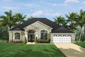 House Plan Design - Mediterranean Exterior - Front Elevation Plan #1058-39