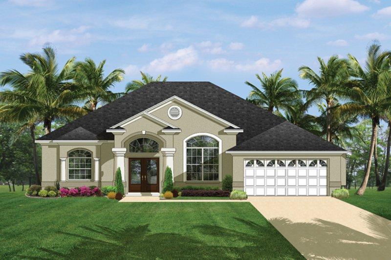House Plan Design - Mediterranean Exterior - Front Elevation Plan #1058-39
