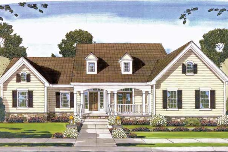 Country Exterior - Front Elevation Plan #46-781 - Houseplans.com
