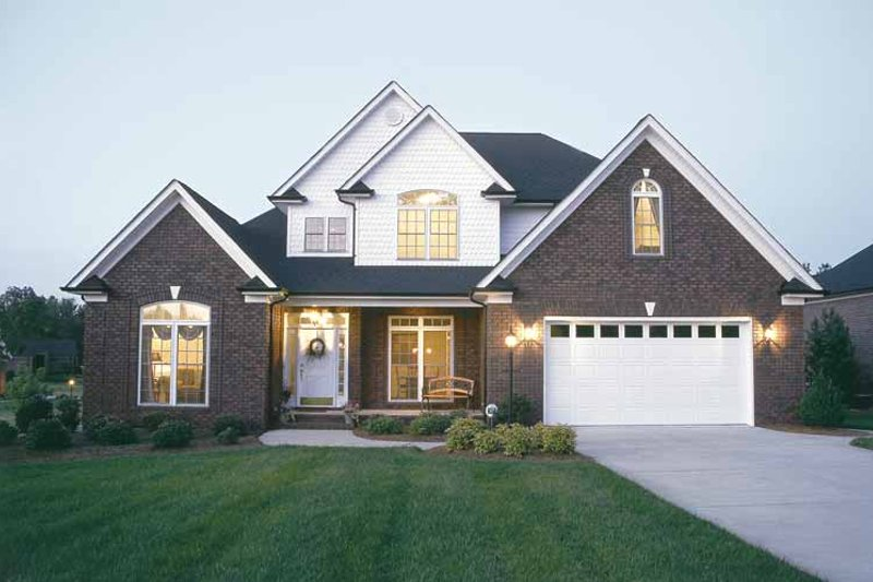 Traditional Exterior - Front Elevation Plan #20-2215 - Houseplans.com