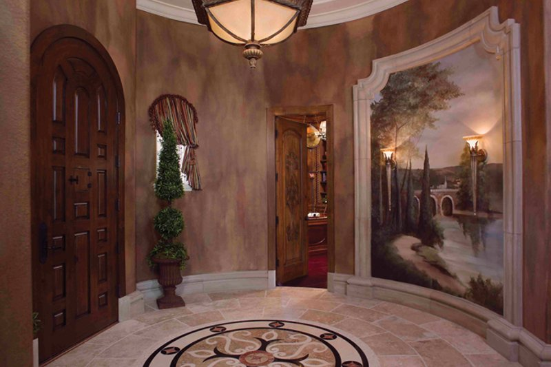 Mediterranean Interior - Entry Plan #1058-1 - Houseplans.com