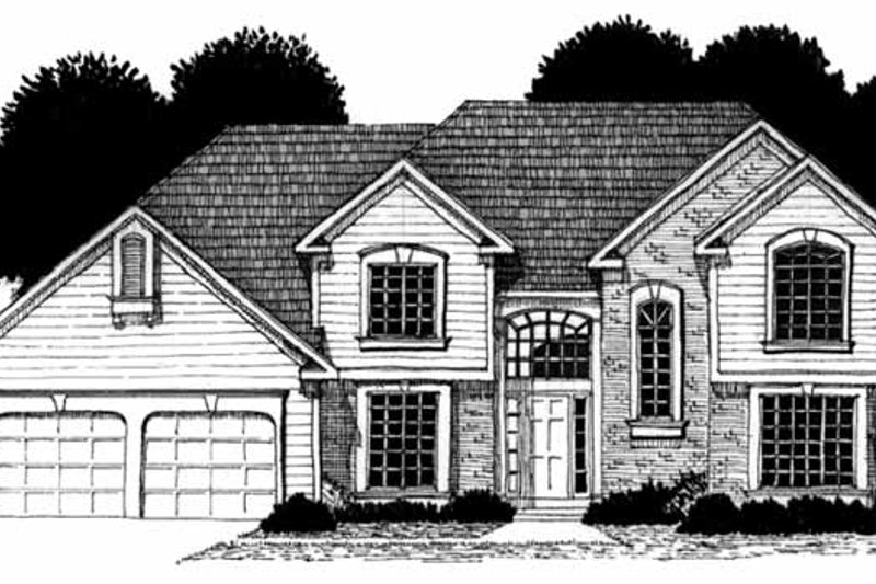 Traditional Exterior - Front Elevation Plan #328-155 - Houseplans.com