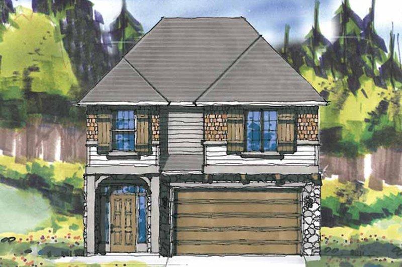 Prairie Exterior - Front Elevation Plan #509-299 - Houseplans.com