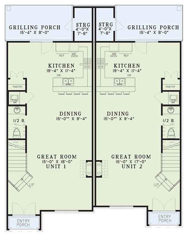 European Floor Plan - Main Floor Plan Plan #17-3400