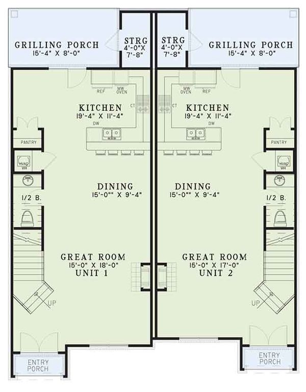 European Floor Plan - Main Floor Plan Plan #17-3400