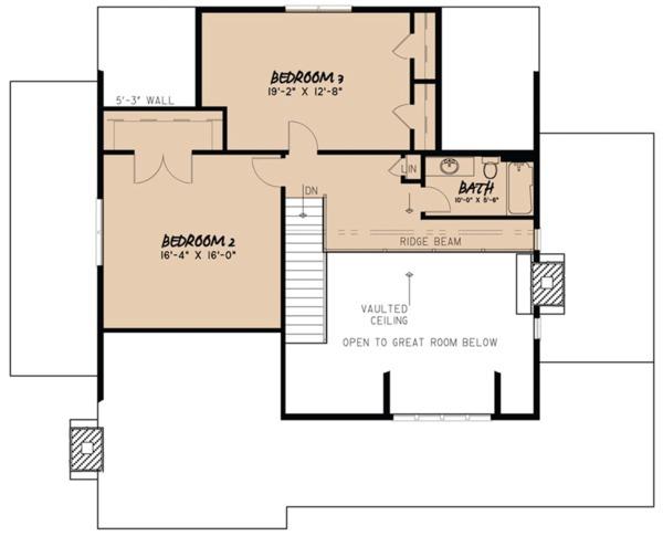 Dream House Plan - Cottage Floor Plan - Upper Floor Plan #923-68