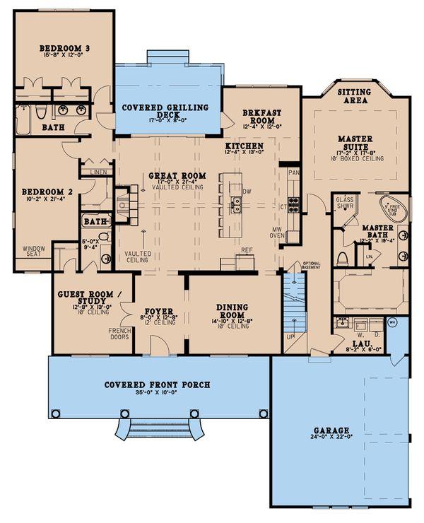 Dream House Plan - Farmhouse Floor Plan - Main Floor Plan #923-190