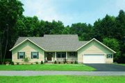 Traditional Style House Plan - 3 Beds 2 Baths 1830 Sq/Ft Plan #72-115 Exterior - Front Elevation