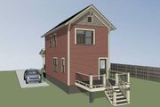 Traditional Style House Plan - 2 Beds 1.5 Baths 868 Sq/Ft Plan #79-277 Exterior - Other Elevation