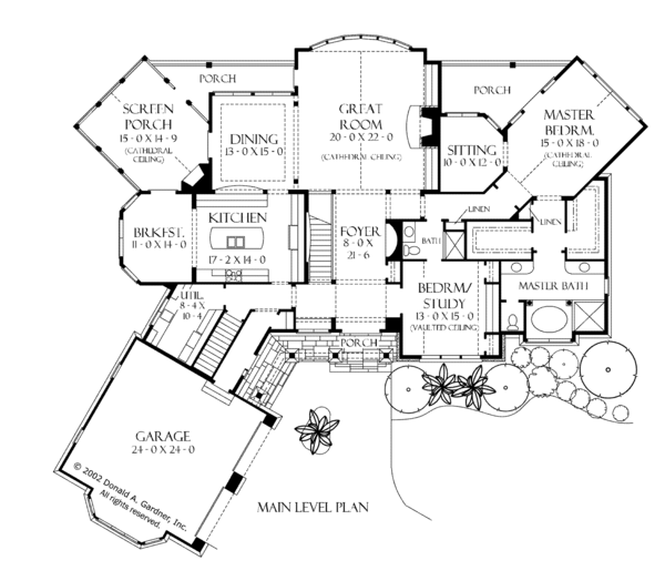 European Floor Plan - Main Floor Plan Plan #929-894