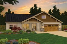 Architectural House Design - Craftsman Exterior - Front Elevation Plan #943-43