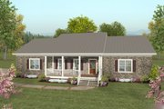 Traditional Style House Plan - 2 Beds 2.5 Baths 1500 Sq/Ft Plan #56-606 Exterior - Front Elevation