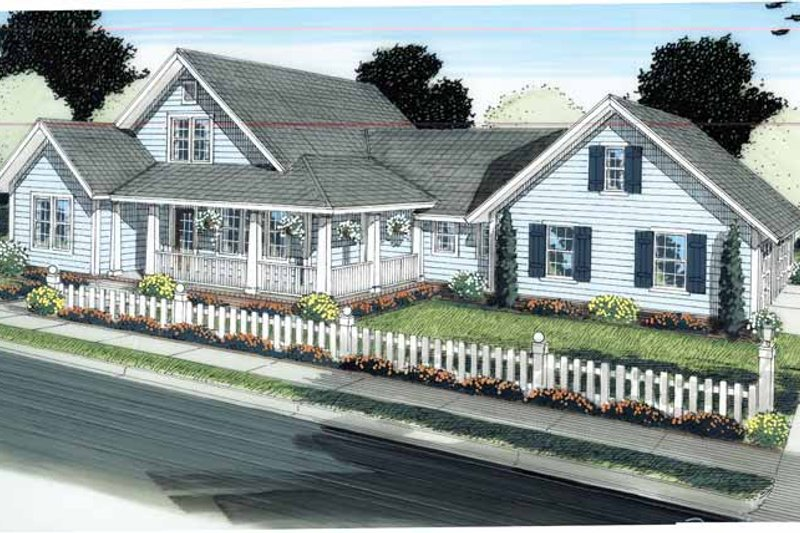 Craftsman Exterior - Front Elevation Plan #513-2120