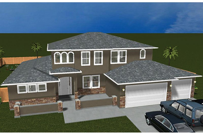 Mediterranean Exterior - Front Elevation Plan #1060-29 - Houseplans.com