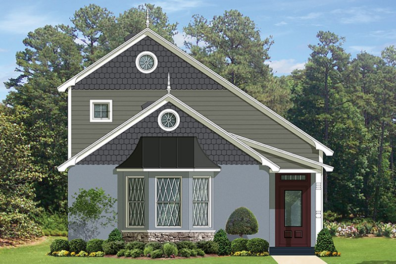 European Exterior - Front Elevation Plan #1058-108 - Houseplans.com