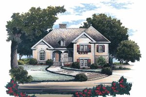 Architectural House Design - Country Exterior - Front Elevation Plan #429-153