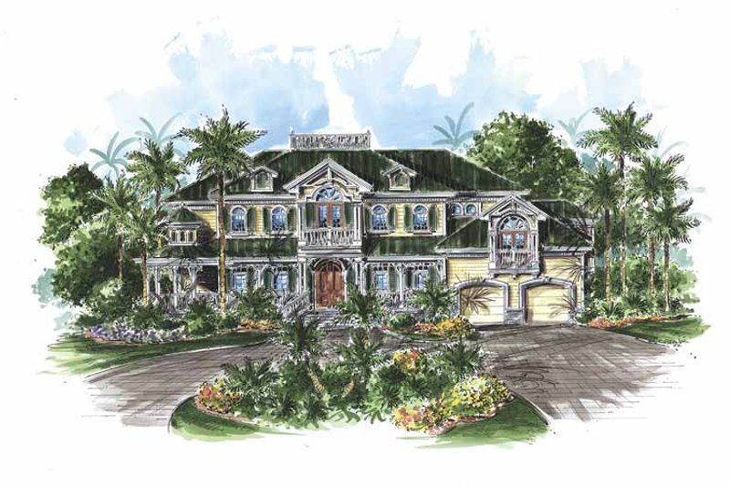 House Plan Design - Mediterranean Exterior - Front Elevation Plan #1017-72
