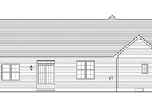 House Plan Design - Ranch Exterior - Rear Elevation Plan #1010-147