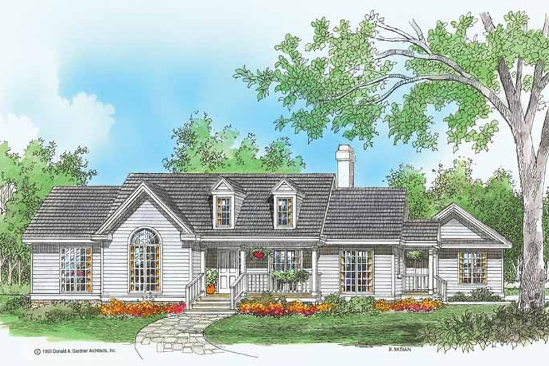 Country Exterior - Front Elevation Plan #929-152