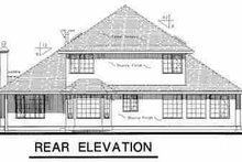 House Blueprint - European Exterior - Rear Elevation Plan #18-242
