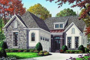 Architectural House Design - European Exterior - Front Elevation Plan #34-194